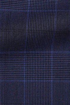 blue glen plaid fabric for custom suit on our suit design program www.truegentlemansupply.com #Realmenwearsuits