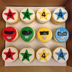 Cakes by Mindy: Power Ranger Cupcakes