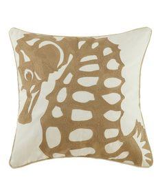 Look what I found on #zulily! Gold Seahorse Throw Pillow #zulilyfinds