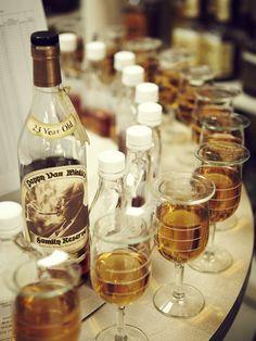 Samplings from some of the latest barrels at Rip Van Winkle distillery  Photo by Joe Pugliese