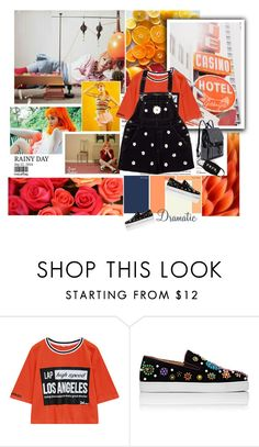 """""""Red velvet"""" by janjanzira-1 ❤ liked on Polyvore featuring Chicnova Fashion and Christian Louboutin"""