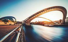 Millennium Bridge, London, Footbridge, Thames, Sunset, UK