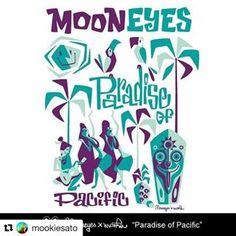 """ミッドセンチュリー、ティキカルチャースタイルを得意とする、日本人アーティストの Mookie Sato 。 その""""POP"""" なポリネシアン スタイルの作品は日本を始め、世界各国で高く評価されています。 そして今春、Mookie Sato X MOONEYES のスペシャル コラボ T-Shirts が MOONEYES Clothing 2017シリーズにラインナップ!近日発売開始です!!お楽しみに! #Repost @mookiesato with @repostapp ・・・ #mooneyes #hulamoon #paradiseofpacific #hula #tiki #tshirt #ss2017 #ムーンアイズ #hotrods #ホットロッド #tシャツ #フラガール #ハワイアン #hawaiian #mookiesato #フラムーン #aloha #アロハ"""
