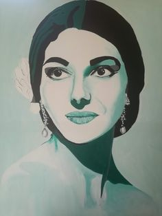 Classical Opera, Paper Light, Maria Callas, Opera Singers, Illustrations And Posters, Line Drawing, Paper Art, Original Paintings, Artsy