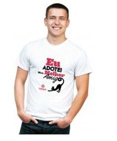 Camiseta - Eu adotei meu melhor amigo