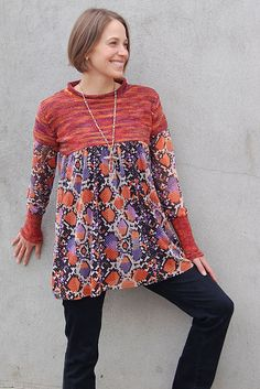 great for too small sweater Ravelry: Best-of-Both Tunic Top pattern by Sally Melville