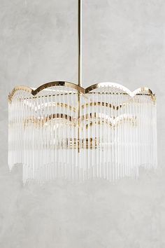 Arched Waterfall Chandelier | Anthropologie