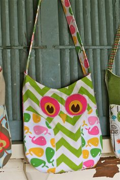 OWL PURSE I would choose different patterns but super cute still.