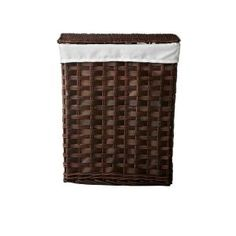 Home Decorators Collection Willow 22 in. H Brown Chipwood Rectangular Laundry Hamper with Liner - $59
