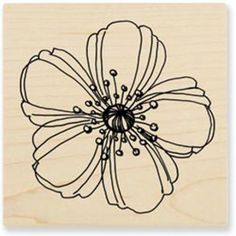 "Stampendous Mounted Rubber Stamp 3""X3""-Fresh Bloom"