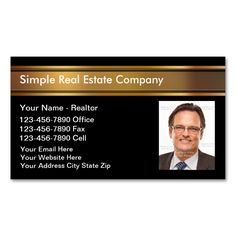 real estate broker simple pink yellow business card real estates