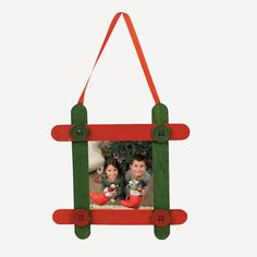 If anyone paid $6.50 for this, they were taken. Craft Stick Photo Frame Christmas Ornament Craft Kit - OrientalTrading.com