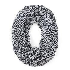 Modern Sqaures Black Infinity Scarf