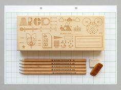 // Homework Pencil Box by presentandcorrect on Etsy //