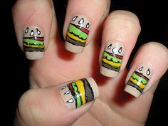 hamburger nails.