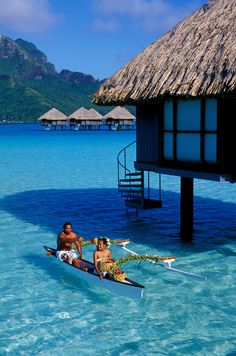 Bucket List - Beautiful Tahiti #ocean #blue #travel #wanderlust #nature #calm #serene