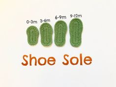 Guide to Crochet Shoe Sole / Crochet baby shoe sole - YouTube