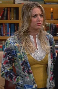 Penny's grey graphic print hoodie on The Big Bang Theory.  Outfit Details: http://wornontv.net/23856/ #TheBigBangTheory