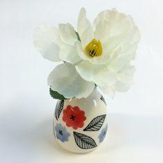 Bud Vase  Fiesta Pattern by krystalspeck on Etsy