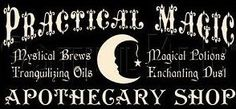 Witchcraft Practical magic apothecary shop witches primitive witch signs halloween sign Primitives Wicca Pagan decorations coven magick folk by SleepyHollowPrims, $55.00 USD