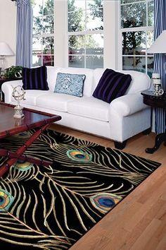 Dark peacock rug by Haute Look