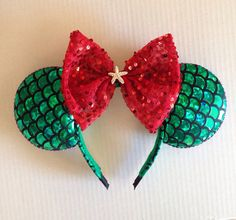 Ariel minnie ears by Yeselyscreations on Etsy, $21.00