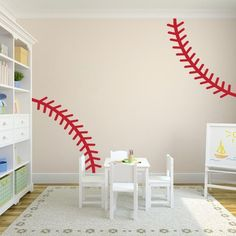 Baseball Stitch Wall Decal | Sports Wall Decal | Wall Decal World | A unique way to display your favorite sport!