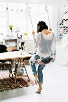 Stop terrorizing the playground, make your own indoor swing.