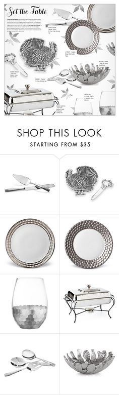 """SET THE TABLE: THANKSGIVING DINNER"" by larissa-takahassi ❤ liked on Polyvore featuring interior, interiors, interior design, home, home decor, interior decorating, Nambé, Star Home Designs, L'Objet and American Atelier"