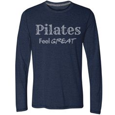 Feel great Pilates | You know how it makes you feel! Share it with others on this performance shirt. Heart rate logo on back.   Look for more in this Collection. Samira