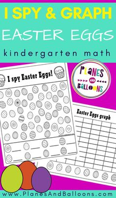 Easter I spy and graphing worksheets for kindergarten - great for Easter math activities. Number Worksheets Kindergarten, Graphing Worksheets, Graphing Activities, Kindergarten Lesson Plans, Printable Activities For Kids, Kindergarten Activities, Free Printables, Number Activities, Easter Activities