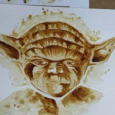 """2 Beğenme, 1 Yorum - Instagram'da peri sanat (@peri.sanat): """"Star wars kahve çalışması..."""""""