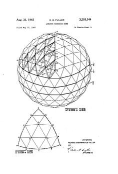 Patent US3203144 - Laminar geodesic dome - Google Patents