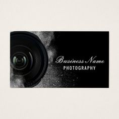 Shop Photographer Camera Black & White Photography Business Card created by cardfactory. Personalize it with photos & text or purchase as is! Salon Business Cards, Modern Business Cards, Custom Business Cards, Professional Business Cards, Business Card Design, Business Branding, Professional Makeup, Photographer Business Cards, Photography Business
