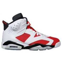 Big Kids' Air Jordan Retro 6 Basketball Shoes in White Size Leather Real Jordans, Air Jordans, Jordans For Sale, Newest Jordans, Air Jordan Retro, Jordan Retro 6 Black, Cheap Jordan 11, Cheap Jordan Shoes, Air Jordan Shoes