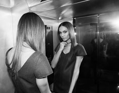 She made a hyper glamorous photo booth out of the hotel elevator.  http://www.thecoveteur.com/joan-smalls-estee-lauder/