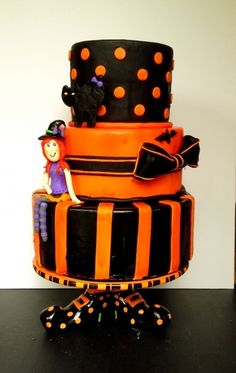 Halloween Birthday witch cake  By MamaNenascakes on CakeCentral.com