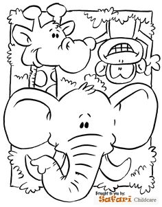 Safari Coloring Page Preschool submited images | Pic 2 Fly