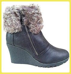 fashionfolie, Damen Stiefel & Stiefeletten , schwarz - schwarz - Größe: 39 EU