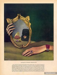 Suzanne Belperron (Ring) 1945 René Boivin (Ring beryl rose) Boucheron