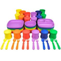 Bowls, plates, cups, cutlery for kids
