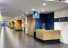 加賀市医療センター Hospital Reception, Hospital Signage, Medical Design, Healthcare Design, Wayfinding Signage, Signage Design, Metting Room, Nurses Station, Corporate Office Design