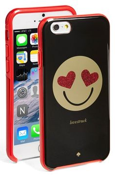 Free shipping and returns on kate spade new york 'lovestruck' iPhone 6 case at Nordstrom.com. A glittering heart-eye emoticon conveys the exact sentiment you'll be feeling when you lay eyes on this adorable hard-shell iPhone case.