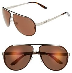 Carrera Eyewear 65mm Aviator Sunglasses