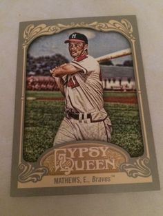 2012 Topps Gypsy Queen Eddie Mathews Braves Baseball Card #228 MT #MilwaukeeBraves