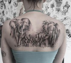The elephant is considered a symbol of responsibility because it takes great care of its offspring and their elders, thus, an elephant tattoo is a symbol of love for family and encourages protection, strength and strong bonds with loved ones in our lives. Grey Ink Tattoos, Dope Tattoos, Body Art Tattoos, Small Tattoos, Sleeve Tattoos, Crow Tattoos, Phoenix Tattoos, Ear Tattoos, Elephant Family Tattoo