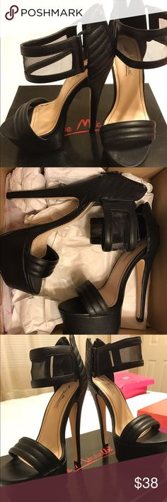 Black Platform Heels Black Platform Heels perfect for a little black dress and going out for a girls night. Keep the heels high and the standards higher ;) Anne Michelle Shoes Platforms