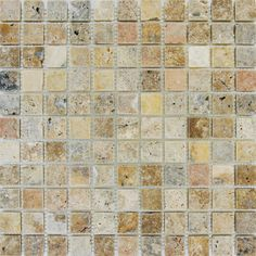 """Found it at Wayfair - Tuscany Scabas 1"""" x 1"""" Travertine Mosaic Tile in Beige"""