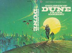 Bruce Pennington Book Covers Children of Dune -Frank Herbert Sci Fi Books, Cool Books, Science Fiction Books, Pulp Fiction, Dune Book Series, Dune Frank Herbert, Book Cover Art, Book Covers, Dune Art