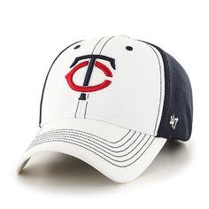 caf0a26664b Adult Minnesota Twins  47 Brand White Cooler MVP Adjustable Hat Minnesota  Twins